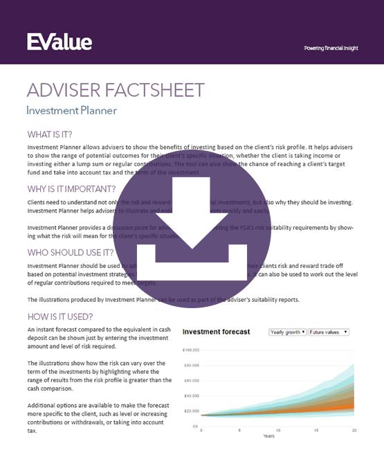 Advisor planning investment planner