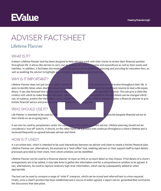 Adviser planning resource