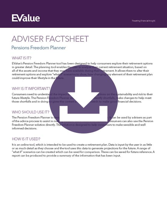 Adviser planning pensions freedom planning document