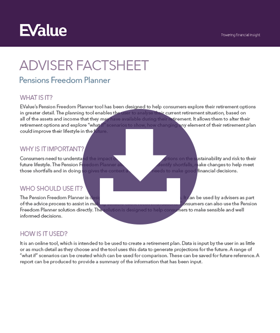 Adviser planning pensions freedom planning document