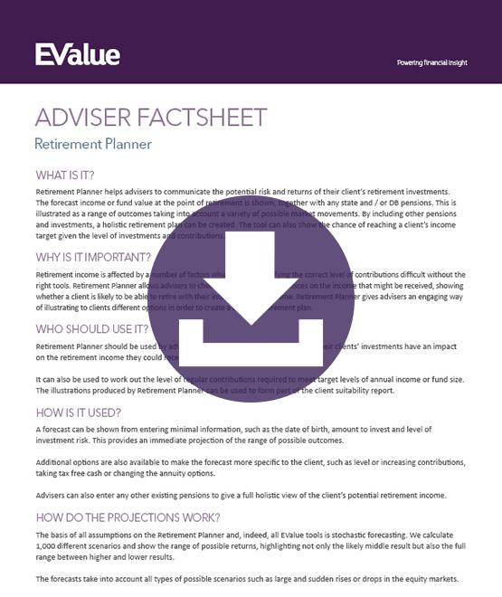 Adviser retirement investment planner