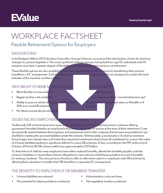 Flexible retirement options for employers
