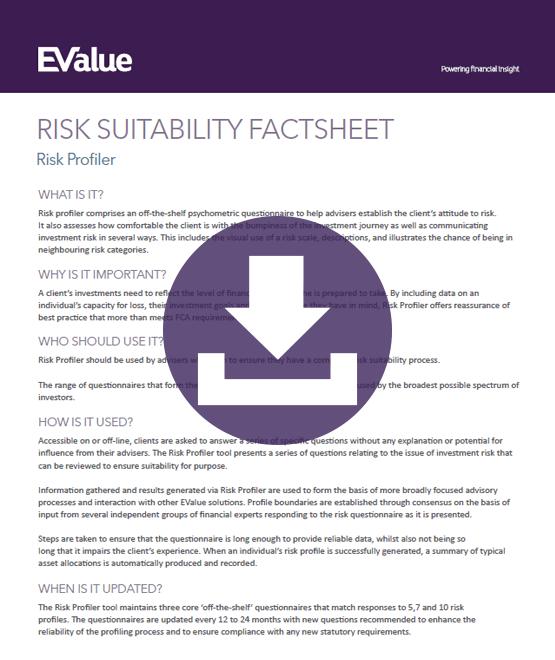 Risk suitability profiler
